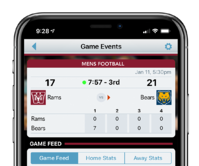 Score Information in the ScoreVision Fan App