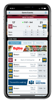 ScoreVision Fan App with Sponsor Ads