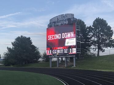 Sponsored Sport Animation on Elkhorn High School 3426 Video Scoreboard