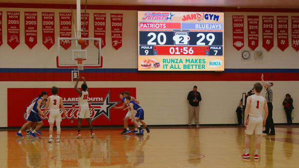 Millard-South-1410-Basketball-Video-Scoreboard-with-Runza-Ad