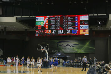 Mid America Center MAC 4818 Indoor Basketball Video Scoreboard with Leaderboard