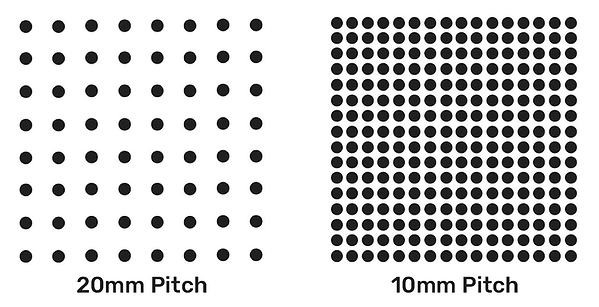 20mm vs 10mm LED Pixel Pitch Comparison