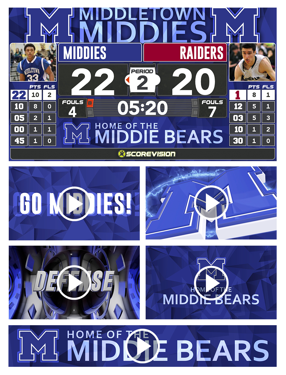 ScoreVision Game Day Enhancement Pack Creative and Video Components