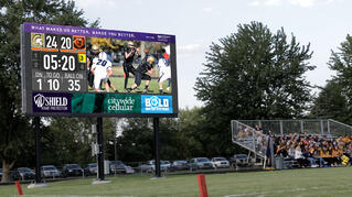 LED Football Video Scoreboard with Live Video Feed