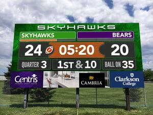 ScoreVision Outdoor Football Video Scoreboard