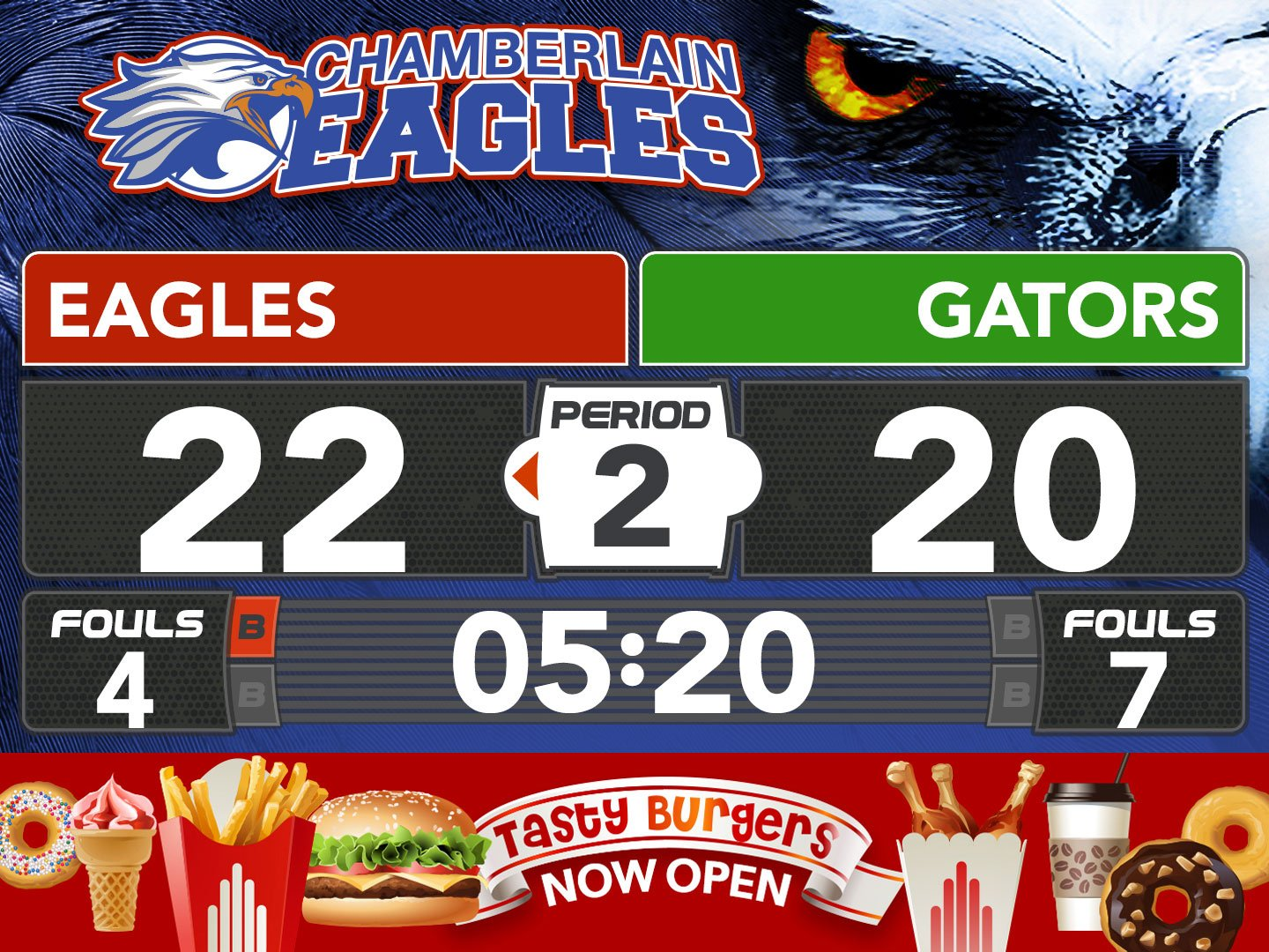 ScoreVision Eagles Brand Wrapper Example