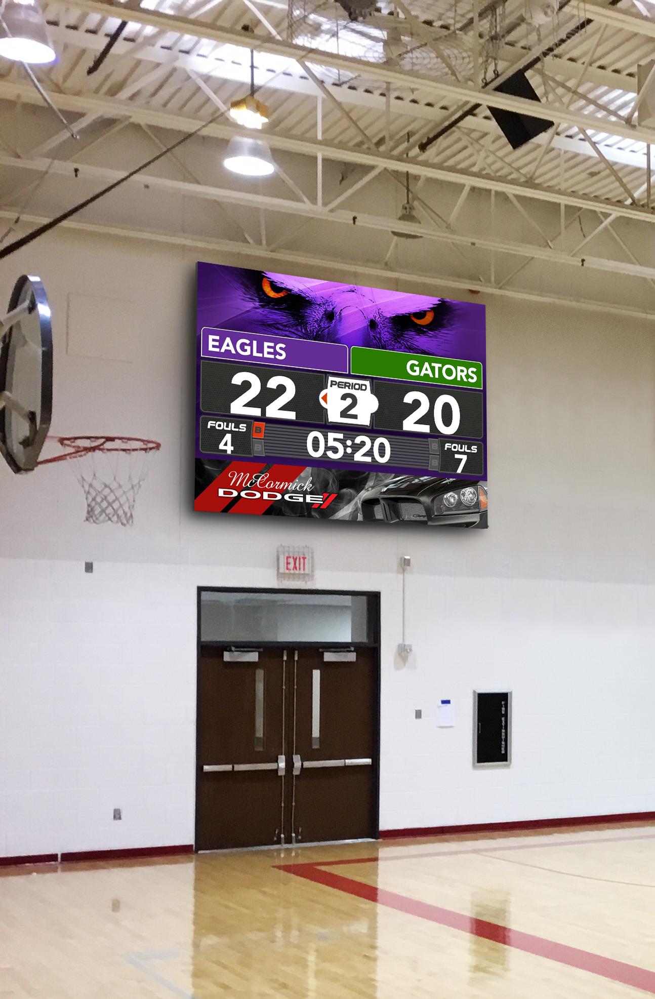 ScoreVision Video Scoreboard Eagles Panorama Ad Example