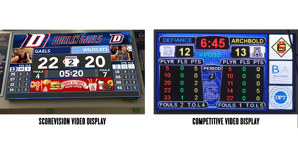 ScoreVision vs. Competitive Video Display Design