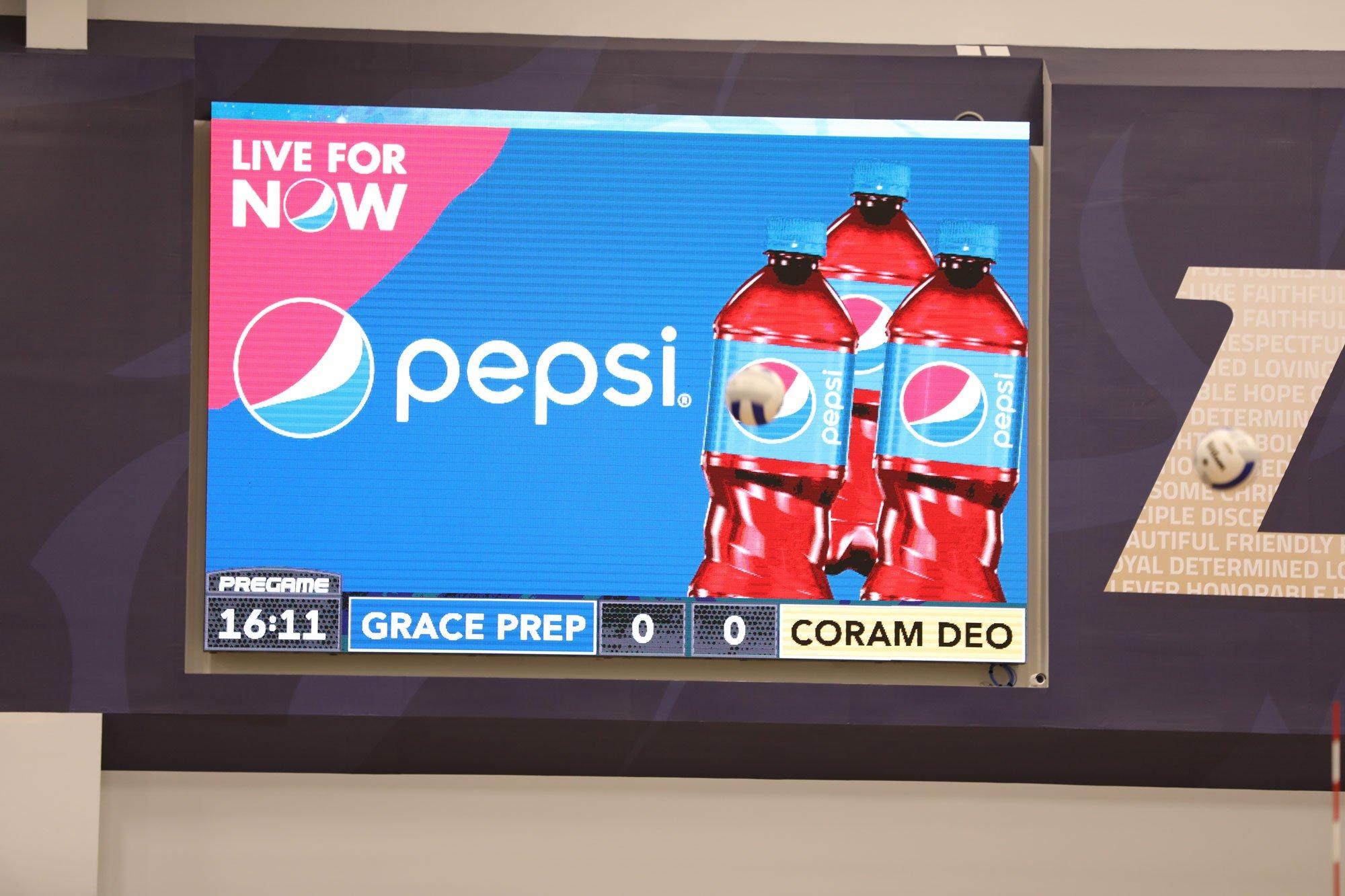 Grace Prep Pepsi Cinema Ad on ScoreVision Video Scoreboard
