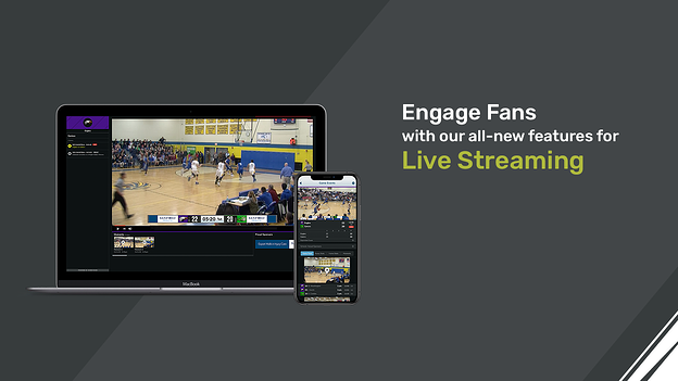 New Streaming Features in ScoreVision Fan Engagement Platform