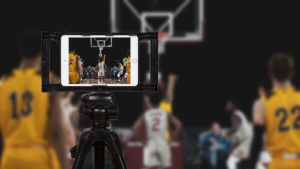 ScoreVision Capture App on Tripod