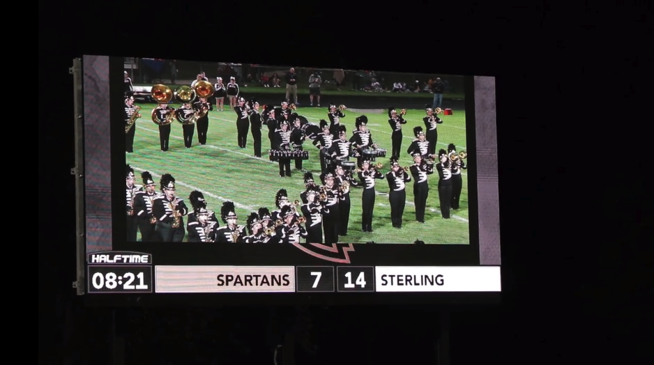 2513 Football Video Scoreboard - Marching Band and Live Video Feed