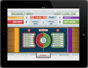Wrestling Scorekeeper iOS App