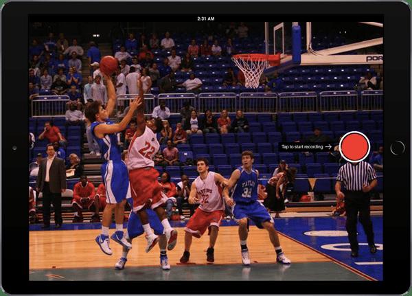 ScoreVision Capture App in Live Camera Mode
