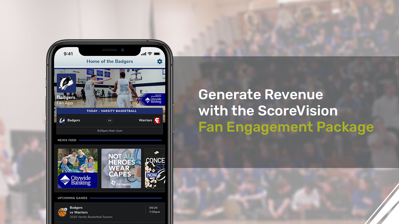 How Sports Teams Can Generate Revenue with the ScoreVision Fan Engagement Package