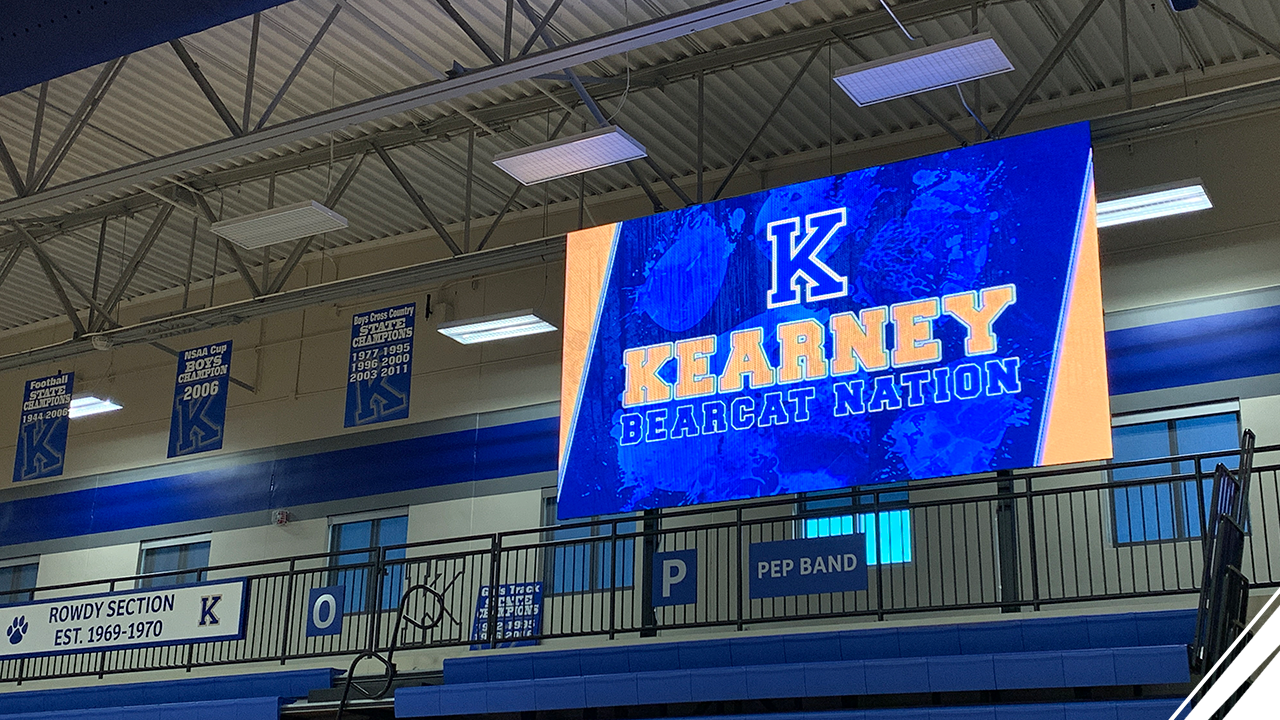 Kearney High School Installs Largest Indoor Video Scoreboard in a Nebraska High School